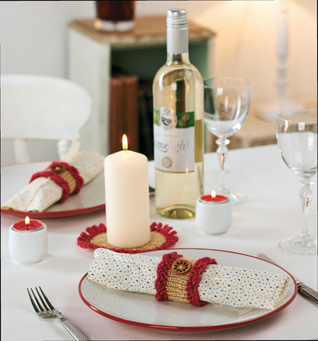 splendour napkin ring and place mat