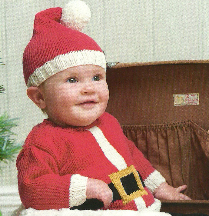 santa baby hat and jumper jane burns