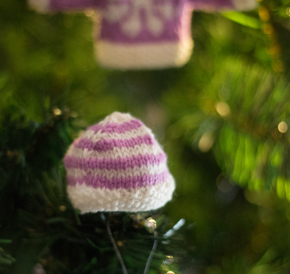 striped mini beanie knitted hat pattern jane burns