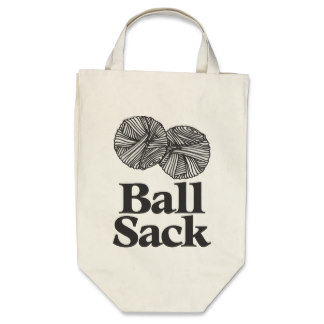 ball sack knitting bag gift idea