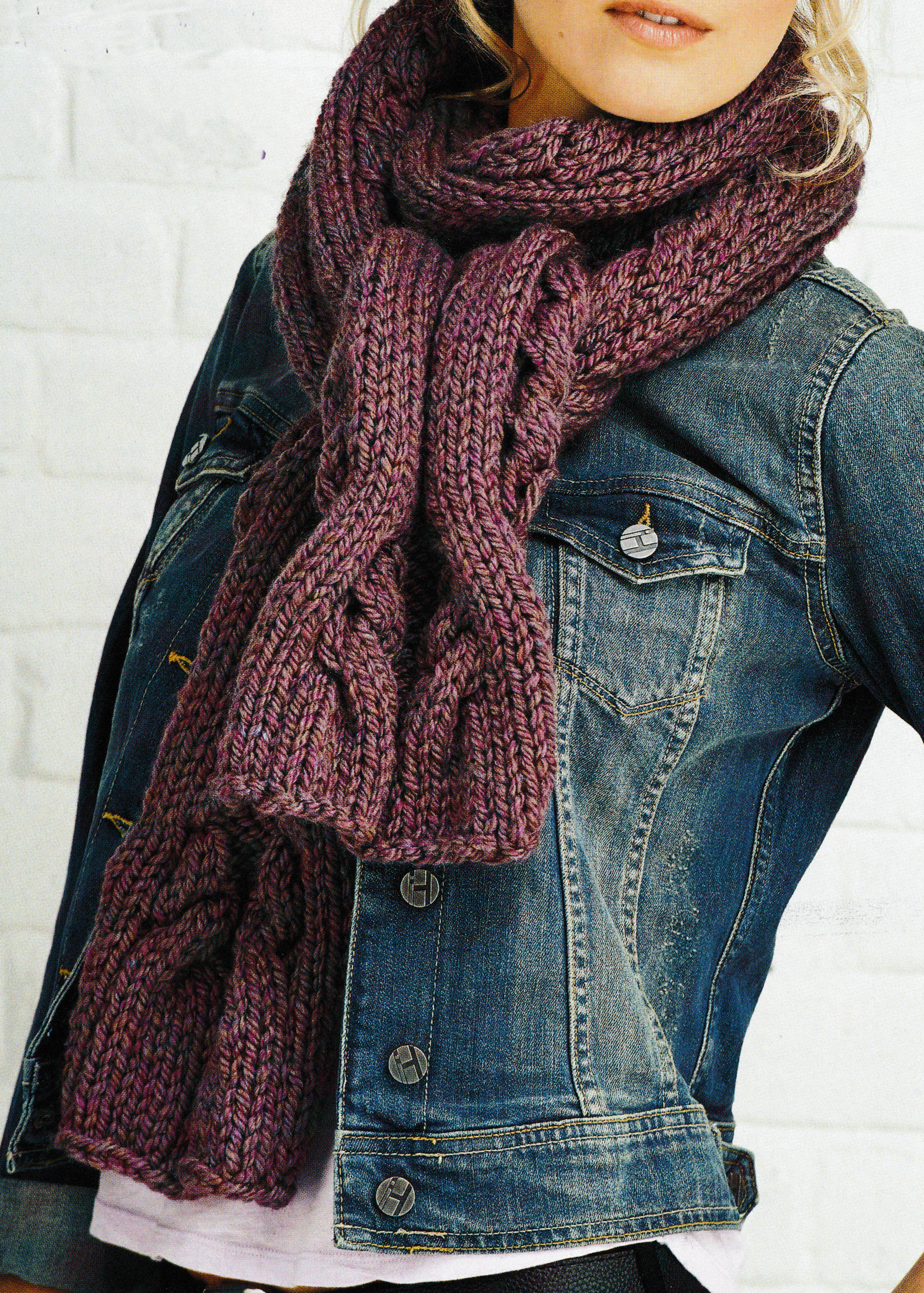 cable scarf knit JANE BURNS
