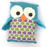 knitted owl pj case jane burns