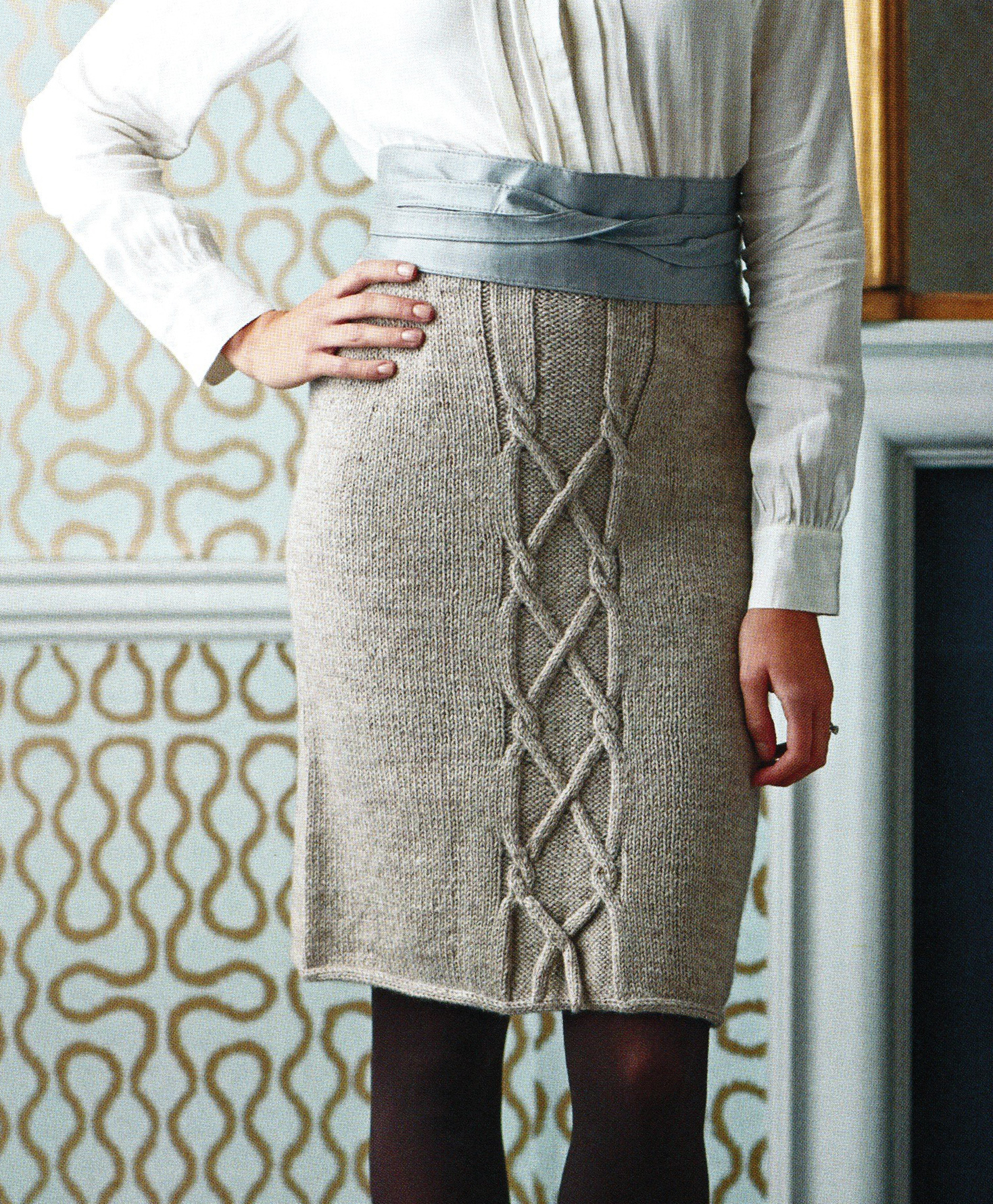 cable skirt jane burns knit