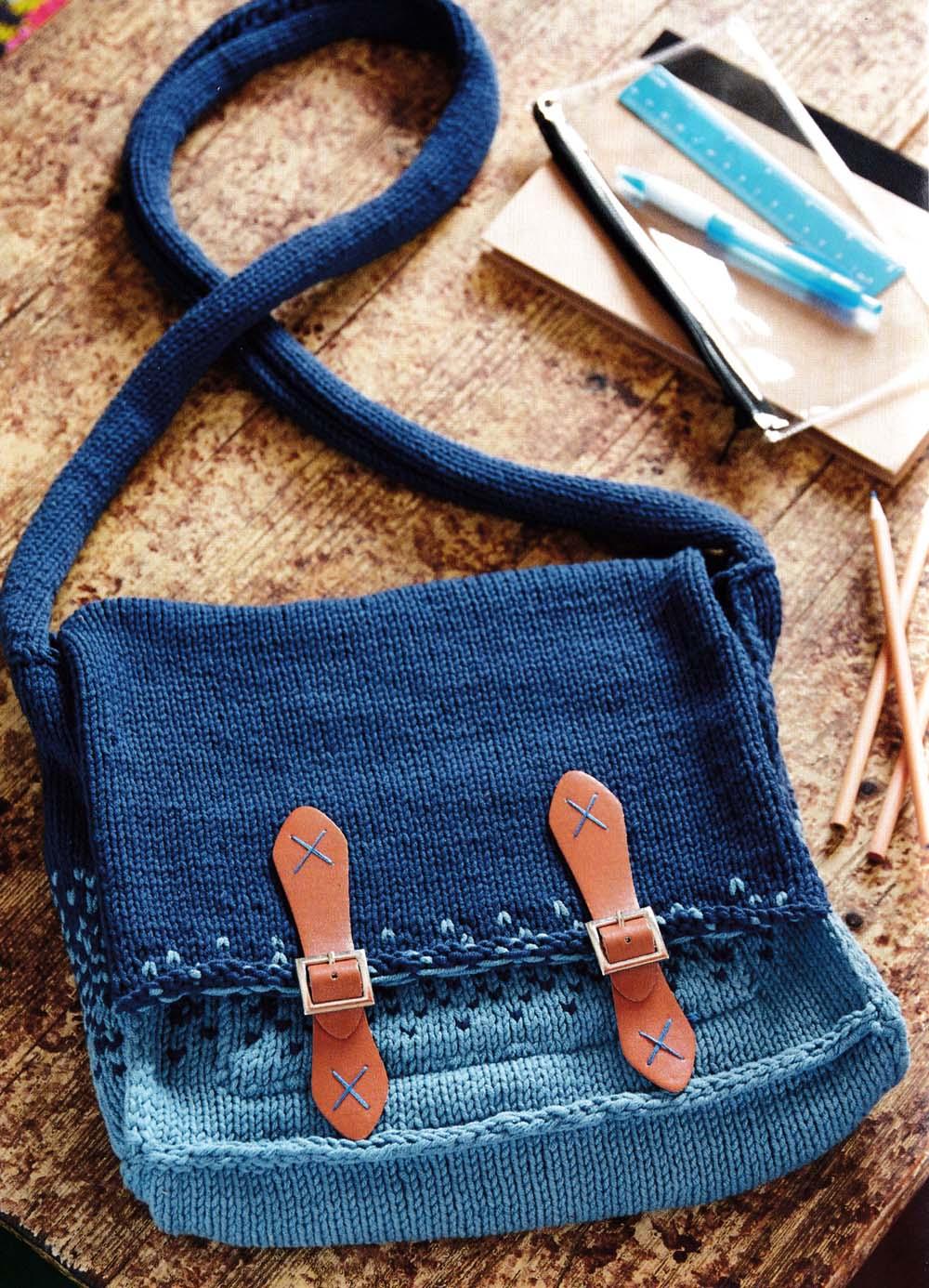 dip dye denim satchel knit jane burns