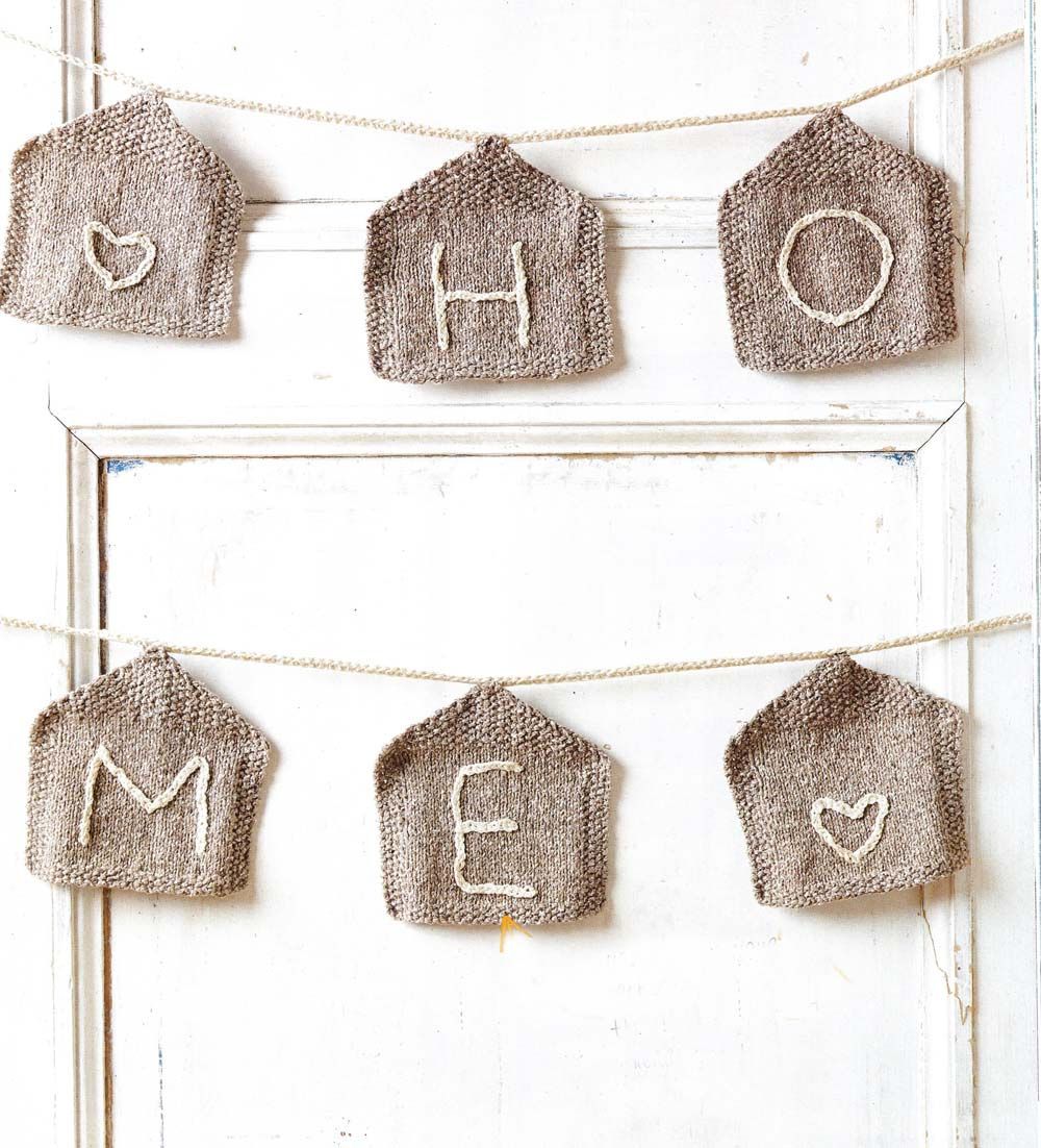 home sweet home knit bunting jane burns