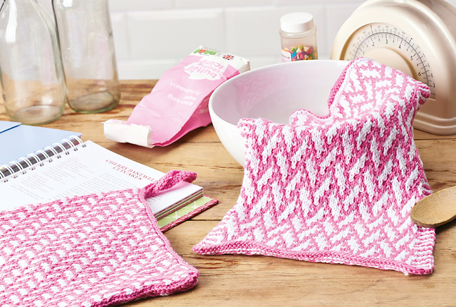 mosaic knitting tea towel jane burns
