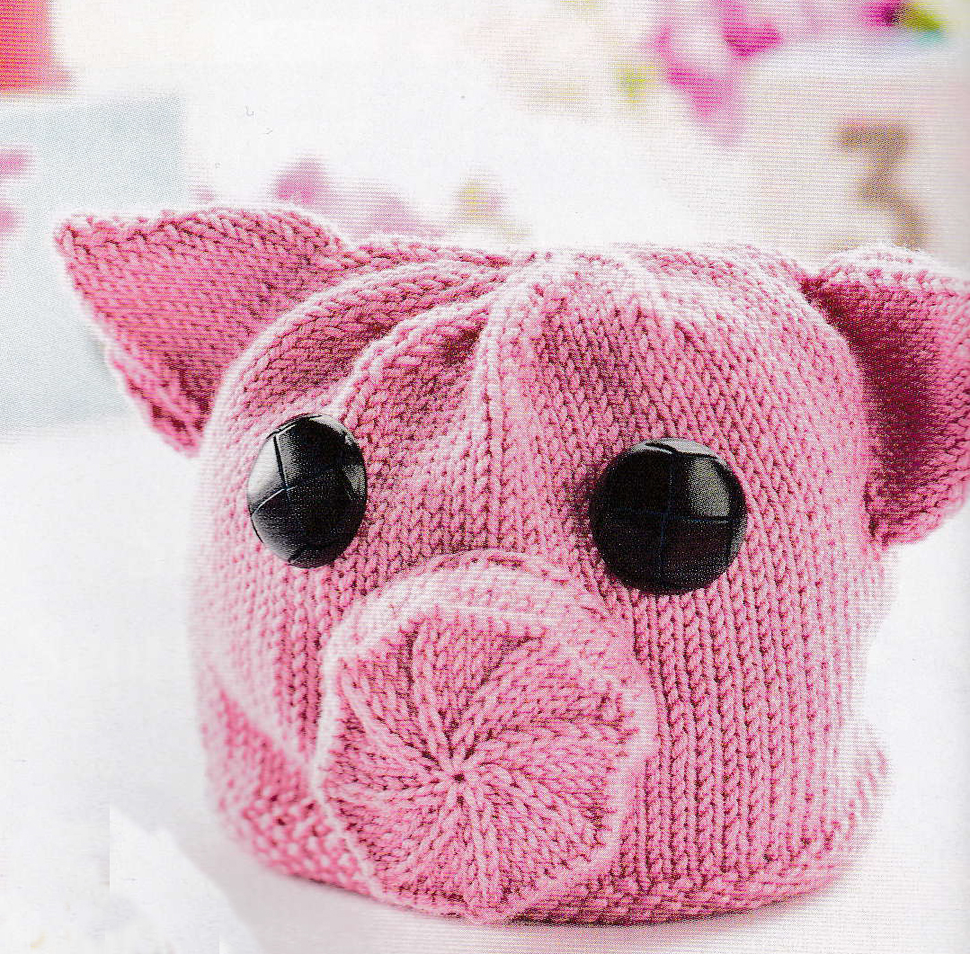 jane burns piggy hat knit