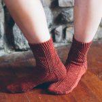 Sparkle Christmas Tree Socks jane burns knit
