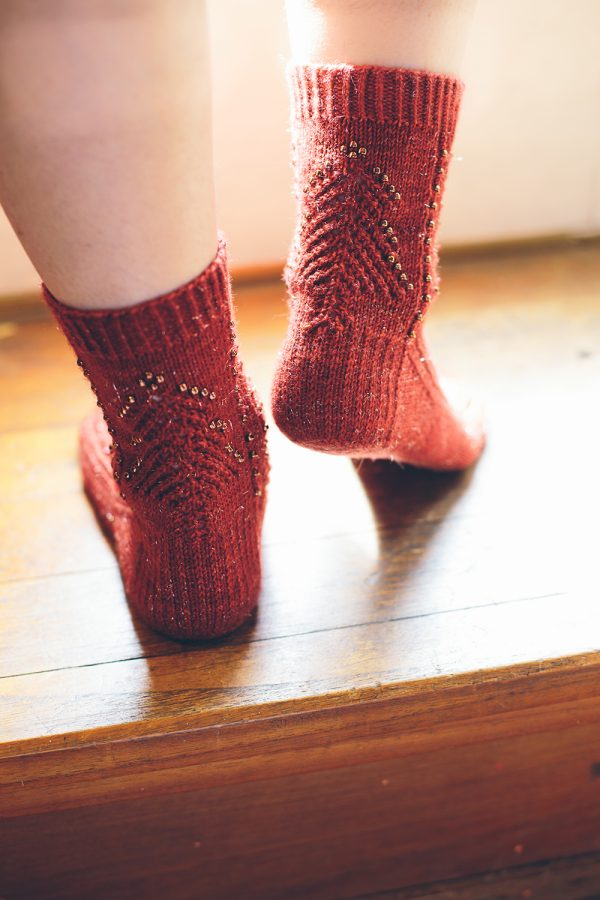 Sparkle Christmas Tree Socks jane burns knit