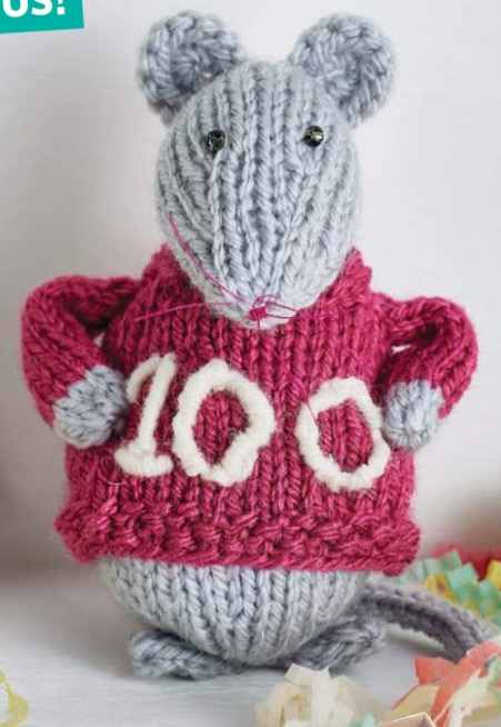 100 issue Cecile mouse knit pattern Jane burns