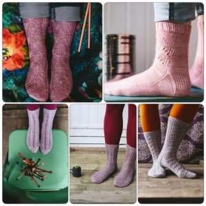Lazy Sunday Knitted and Beaeded Socks Montage Jane Burns