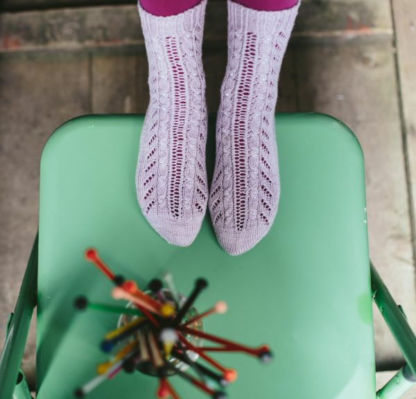 Nothing To Say, Lazy Sunday Knitted and Beaded Socks by Jane Burns